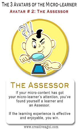 The Microlearning Audience - Avatar 2 - the Assessor